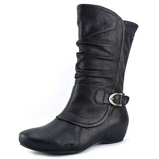 Baretraps Shelby Women  Round Toe Synthetic Black Mid Calf Boot