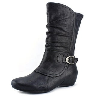 Baretraps Shelby Round Toe Synthetic Mid Calf Boot