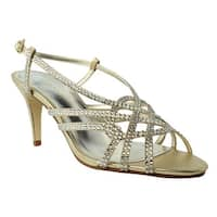 Caparros Womens Victory Gold/Metallic Sandals Size 8.5