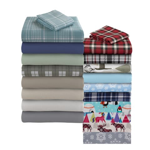 Asher Home Genevieve 100-percent Cotton Flannel Sheet Set