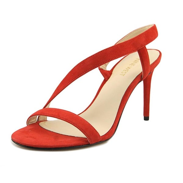 Nine West Rhyan Women Open Toe Synthetic Red Sandals