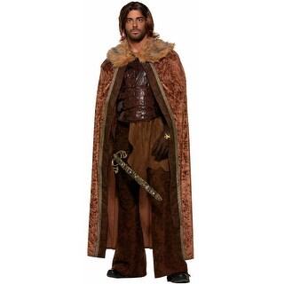 Forum Novelties Men's Faux Fur Trimmed Cape (Brown) - Brown