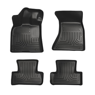 Husky Weatherbeater 2011-2015 Dodge Charger AWD Black Front & Rear Floor Mats/Liners