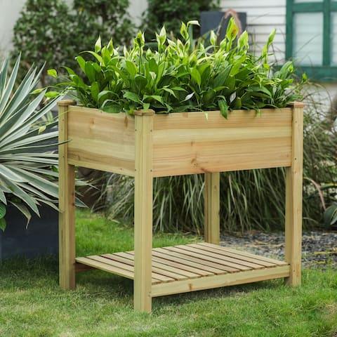 Wood Raised Garden Bed Planter