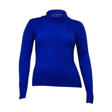 Karen Scott Women's Long Sleeve Cable Detail Sweater