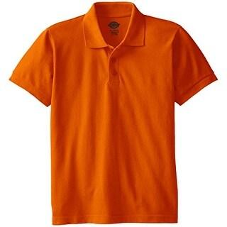 Youth Size S/S Pique Polo Shirt - Orange