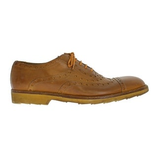 Dolce & Gabbana Yellow Leather Wingtip Shoes - eu44-us11