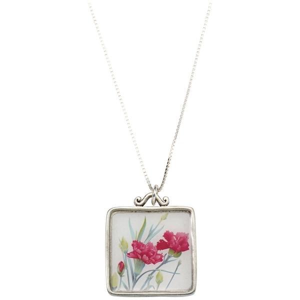 d7c6f47bec Shop Floriana Women's Birth Month Flower Necklace - Floral Pendant ...