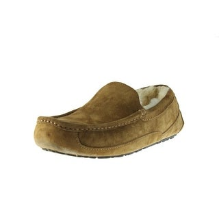 Ugg Australia Mens Ascot Moccasin Slippers Suede Lined - 11 medium (d)