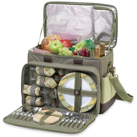 Picnic at Ascot Hamptons Deluxe Picnic Cooler for 4 (229-H)