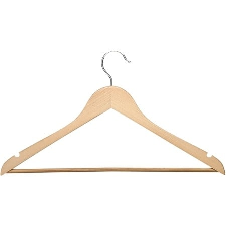 Honey-can-do HNG-01334 Honey-can-do HNG-01334 24-Pack Suit Hanger, Maple - Wood Material - 24 Pack