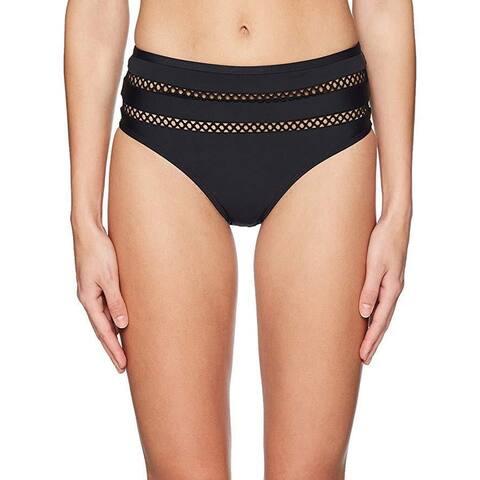 Ella Moss Women's Crafty Retro Bikini Bottom, Crafty Black, Sz Small