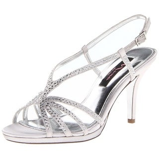 Nina Women's Bobbie Crystal Embellished Heeled Sandals