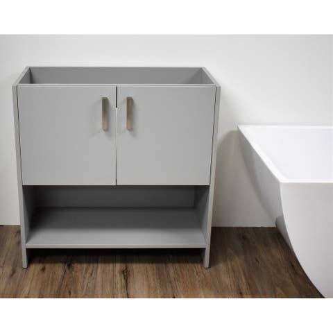 Volpa USA Cabo 36-inch Freestanding Bathroom Cabinet in Grey