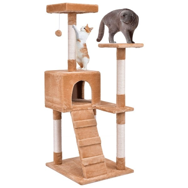 Shop Gymax 52 Cat Tree Tower Condo Furniture Scratching