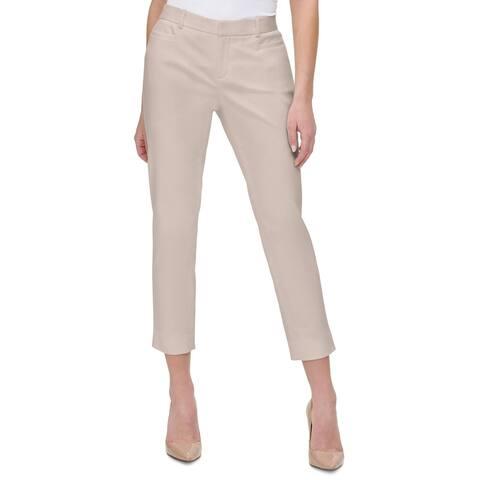Tommy Hilfiger Womens Khaki Pants Cropped Mid-Rise