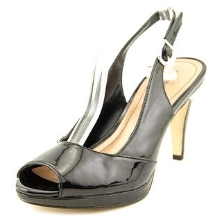 Style & Co Nory Women Peep-Toe Synthetic Black Slingback Heel