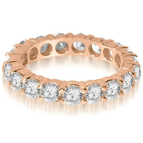 2.20 cttw. 14K Rose Gold Round Shared Prong Diamond Eternity Ring