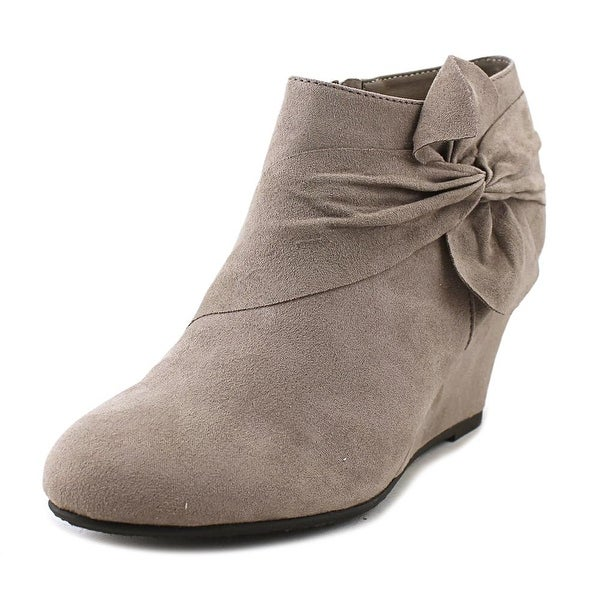 CL By Laundry Vivid Women Round Toe Synthetic Gray Bootie