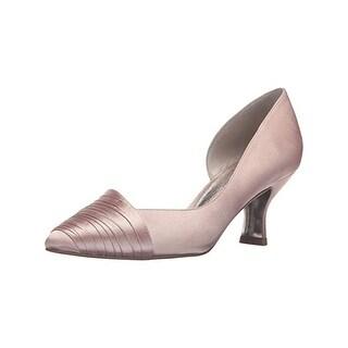 Adrianna Papell Womens Harriet D'Orsay Heels Pintuck Almond Toe