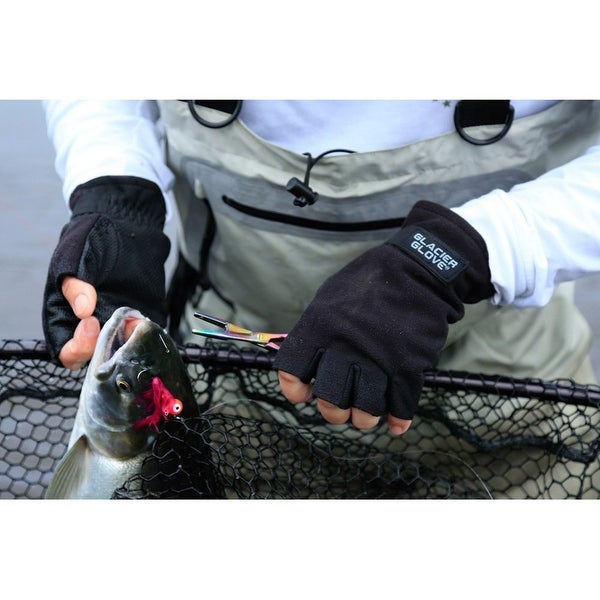 Glacier Glove Alaska River Fingerless 2mm G-Tek Fleece Winter Fishing Gloves