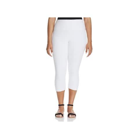 Lysse Womens Plus Capri Leggings Comfort Waist High Rise - 1X