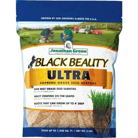 Jonathan Green 10321 Black Beauty Ultra Grass Seed Mixture, Up To 1200 Sqft, 3 Lb