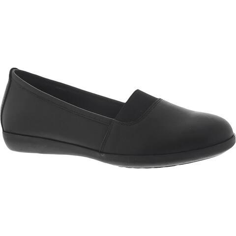 Beacon Womens Adele Loafers Leather Slip On - Black - 10 Narrow (AA,N)
