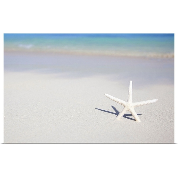"""Single starfish stuck in beach sand."" Poster Print"