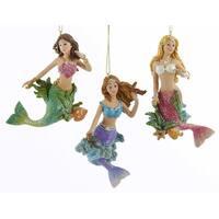 Kurt Adler Beautiful Young Glittery Mermaids  Holidays Ornaments Set of 3