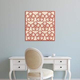 Easy Art Prints June Erica Vess's 'Floral Trellis II' Premium Canvas Art