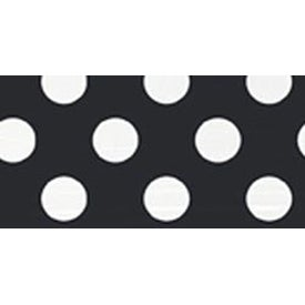 "Midnight Black Decorative Dots - Round Plates 7"" 8/Pkg"