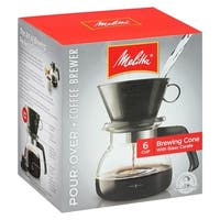 Melitta 640446 Pour Over Coffeemaker w/ Brews 2-to-6 Cups of Coffee