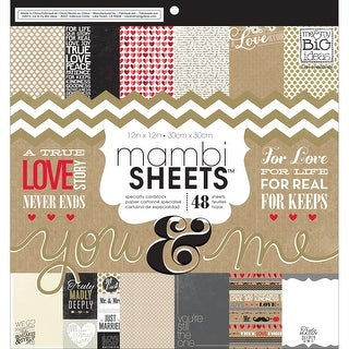 """MAMBI Single-Sided Paper Pad 12""""X12"""" 48/Pkg-You & Me"""