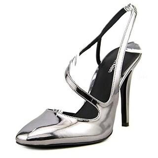 Calvin Klein Marilynn Women Round Toe Synthetic Silver Slingback Heel