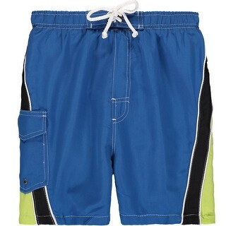 Quad Seven 4-7 Wave Panel Swim Trunk - Blue