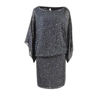 J Kara Women's Beaded Dolman Blouson Dress