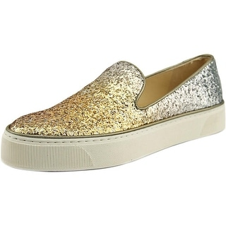 Stuart Weitzman Biarritz Women Round Toe Synthetic Silver Loafer