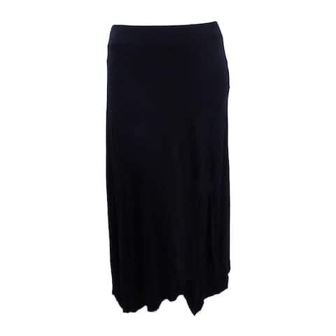 INC International Concepts Women's Handkerchief-Hem Maxi Skirt (XXL, Black) - Black - XXL
