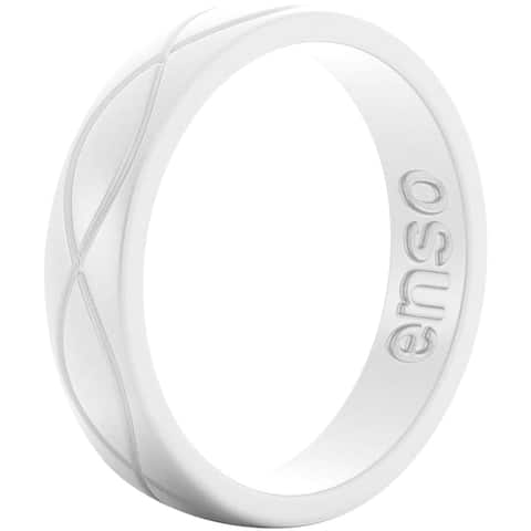 Enso Rings Women's Infinity Series Silicone Ring - White