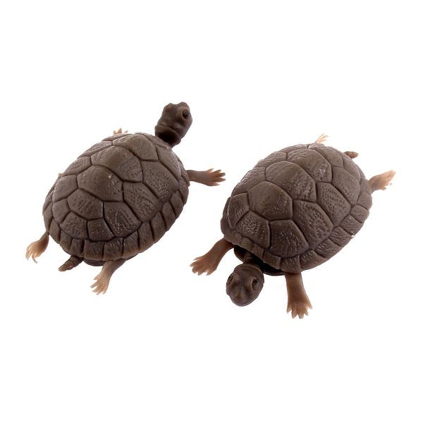 Fish Tank Plastic Tortoise Turtle Aquarium Decorative Ornament 2pcs