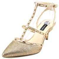 INC International Concepts Carma2 Women  Open Toe Synthetic Gold Sandals