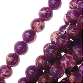 Impression Jasper Gemstone Beads, Round 4mm, 15 Inch Strand, Deep Purple
