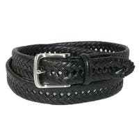 Tommy Hilfiger Men's Burnished Handlaced 1 1/4 Inch Belt