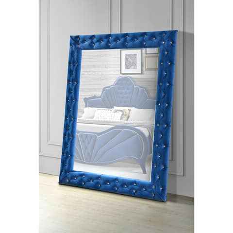 ACME Dante Accent Floor Mirror in Blue Velvet