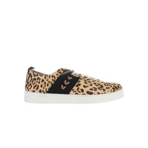 Jack Rogers Womens Ansley Haircalf Animal Print Fashion Sneaker Size 9.5
