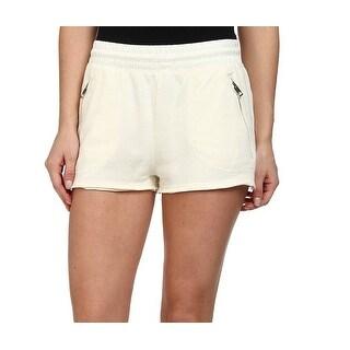 Diesel NEW White Ivory Women's Size Large L Elastic-Waist Shorts