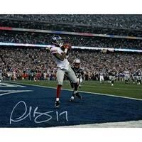 Plaxico Buress Autographed New York Giants 8x10 Photo JSA