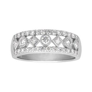 3/4 ct Diamond Band Ring in 14K White Gold
