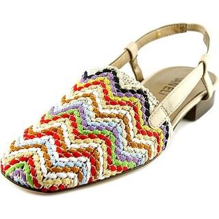 Vaneli Janet Round Toe Canvas Slingback Sandal